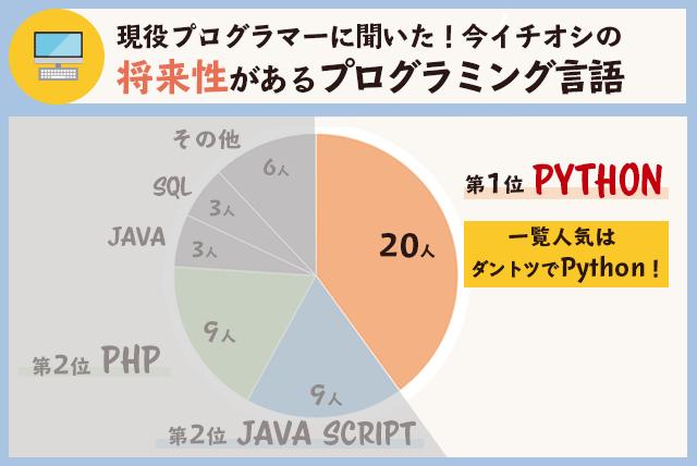 将来性があるプログラミング言語(Python)