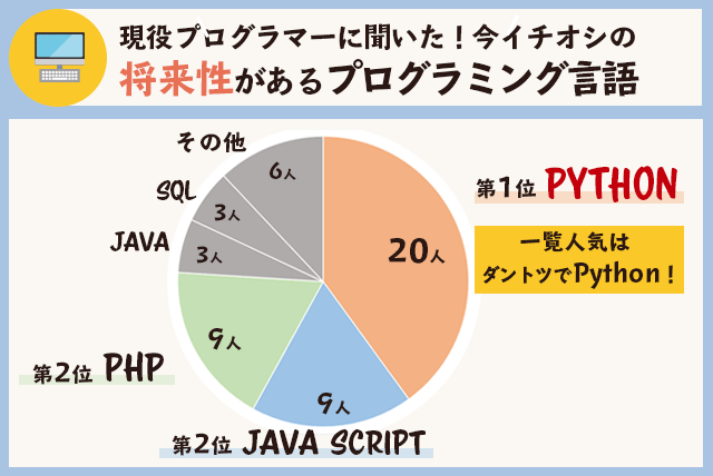 プログラマーが選ぶ、将来性のある人気プログラミング言語ランキング